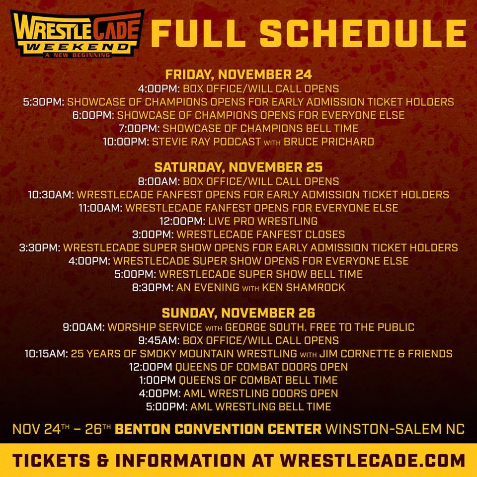 WrestleCade 2018 update