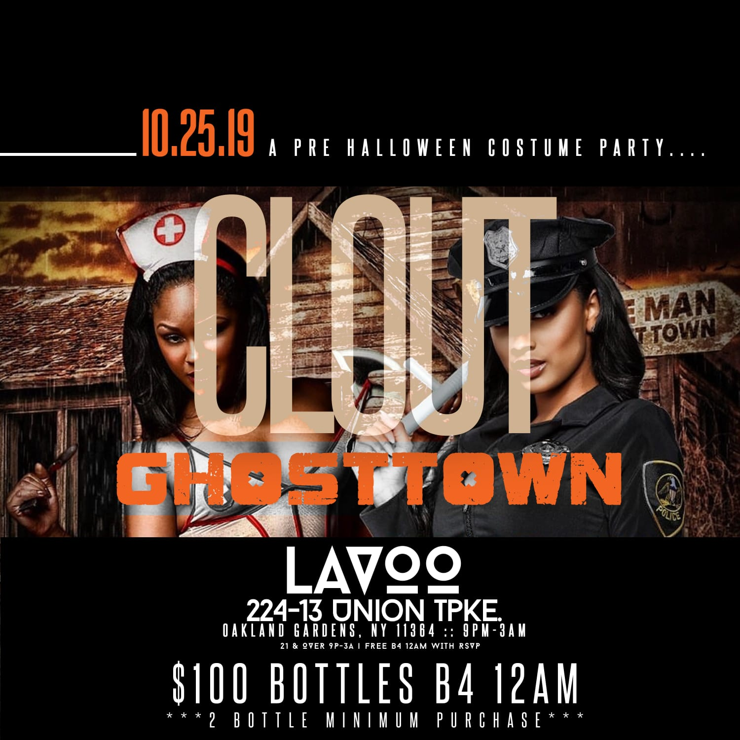 Clout Ghosttown Pre Halloween Costume Party At Lavoo Lounge