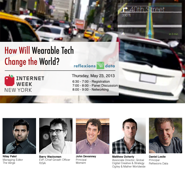 Internet Week 2013 - How will wearable tech change the world?