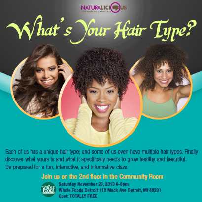 What's You're Hair Type flyer