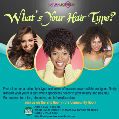 What's Your Hair Type flyer