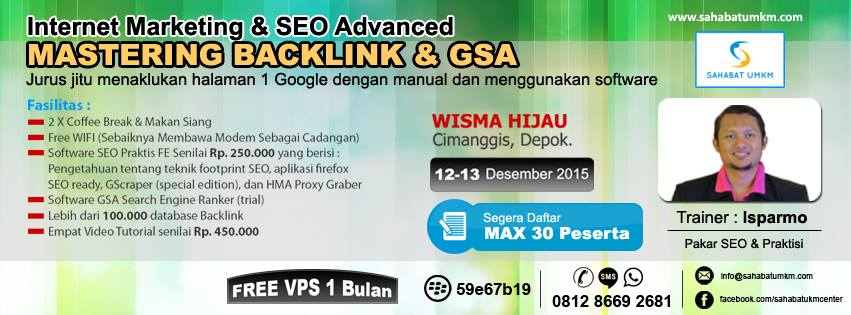 Kursus SEO Pelatiahn Internet Marketing Depok 2015