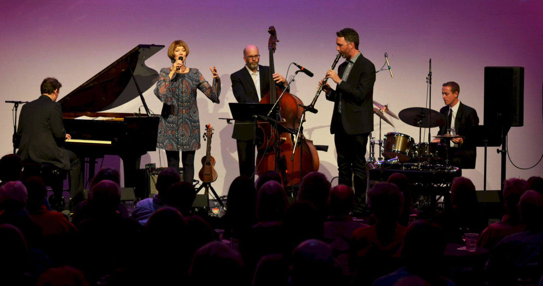 KP Quintet on stage (photo by Bruce Barrett)