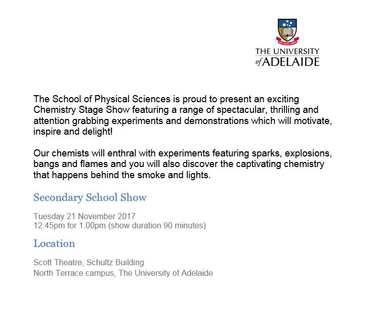 event description secondary school show