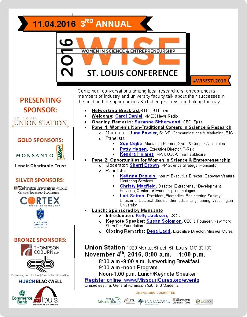 WISE STL flyer 10.18.16