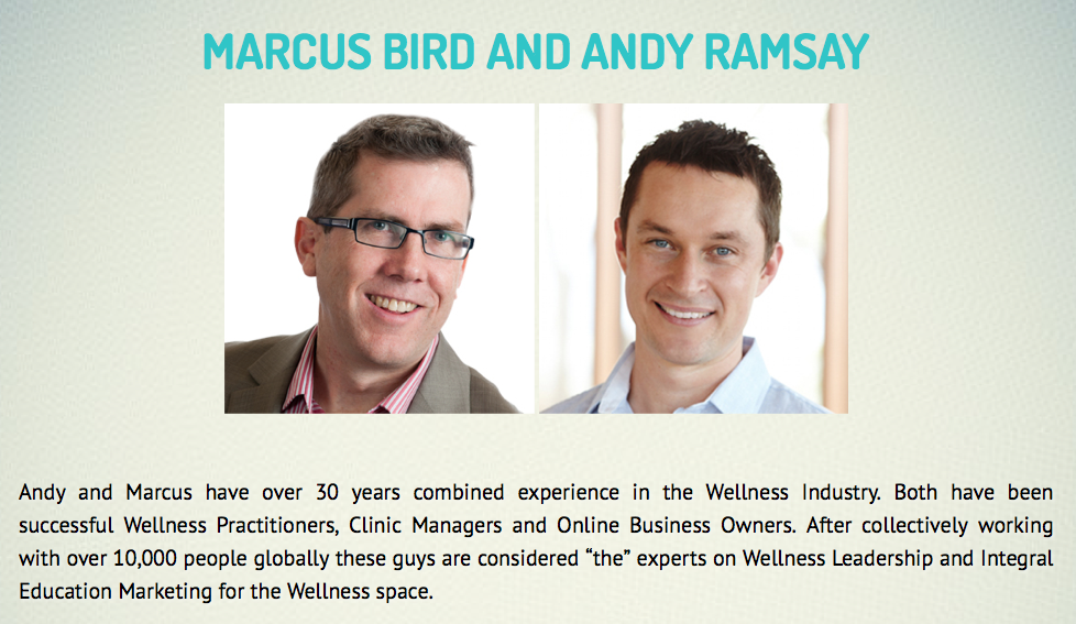 Andy and Marcus - Wellness Leadership Revolution