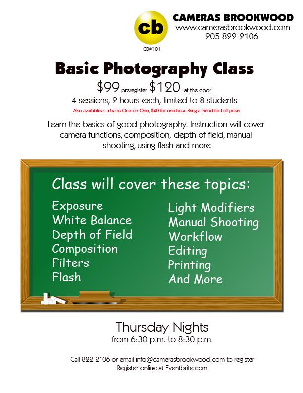 Basic Photography Class Flyer
