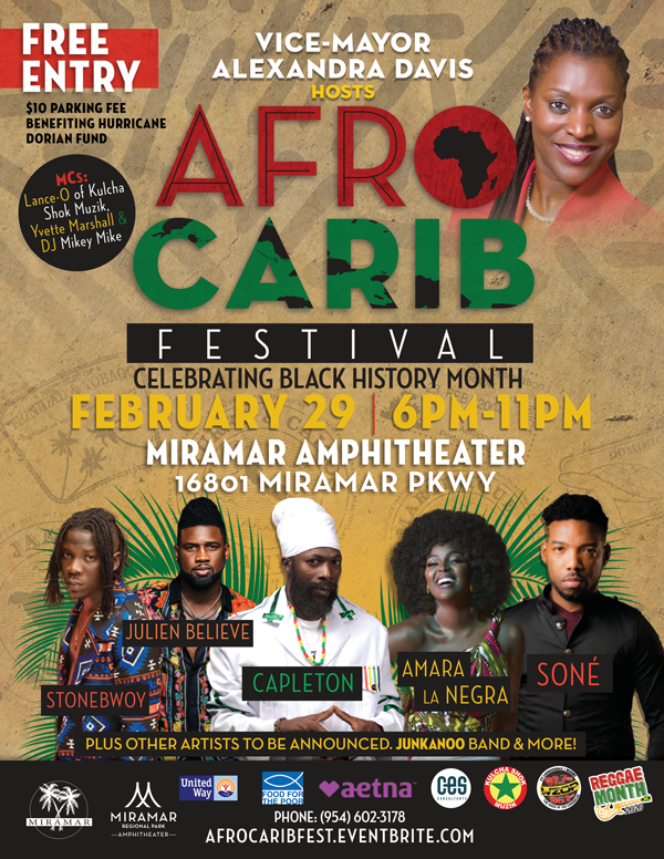 Afro Carib Event Flyer