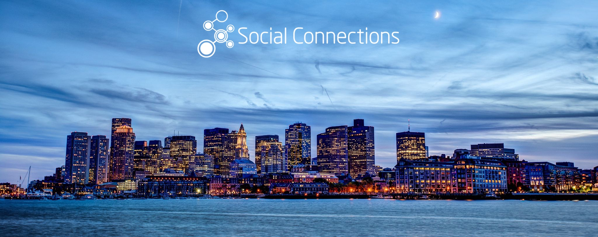 Boston Skyline with Soccnx logo