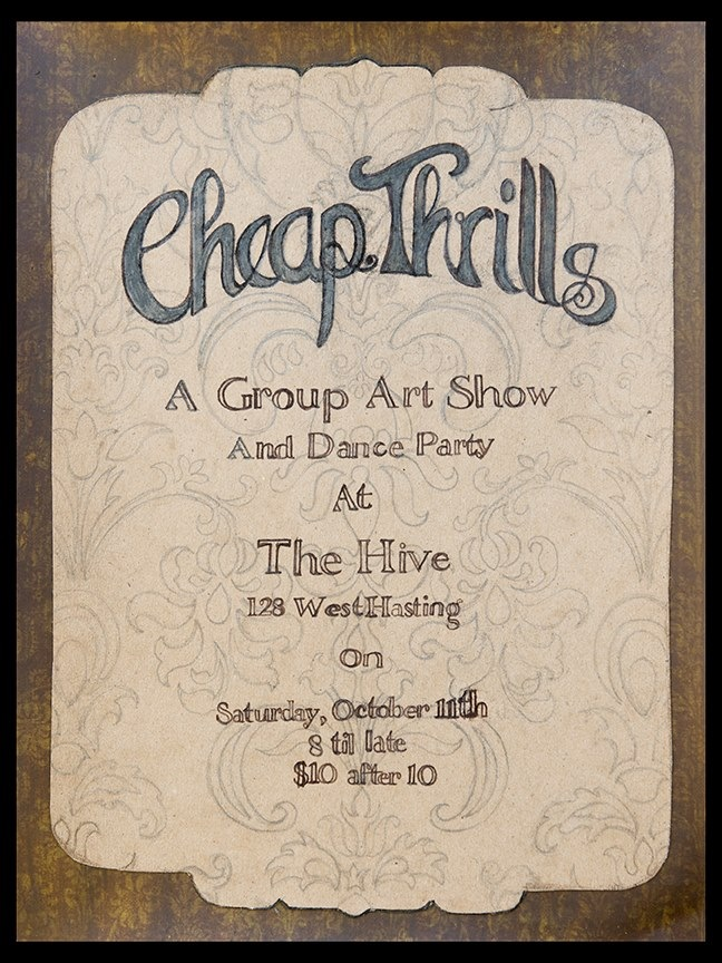 Cheap Thrills Art Show Poster