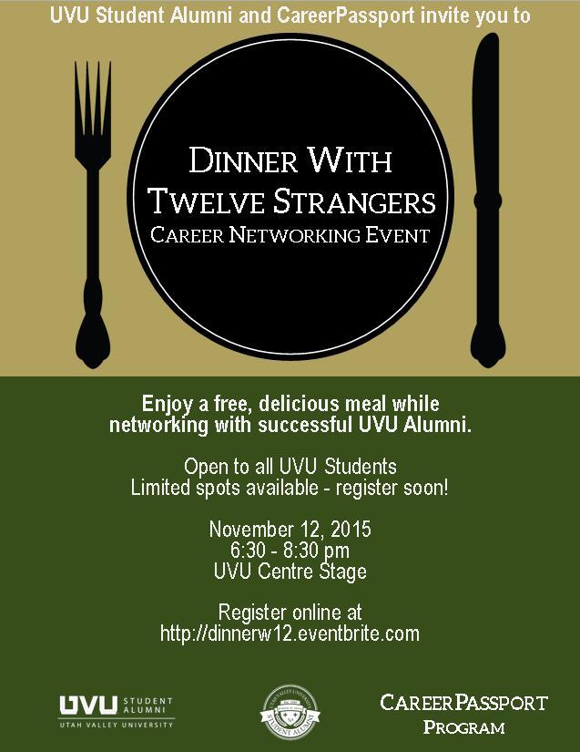 Dinner with 12 Strangers Flier