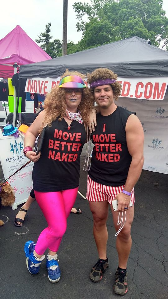 Dr. Eric as Richard Simmons gettin' ready to sweat to the oldies!