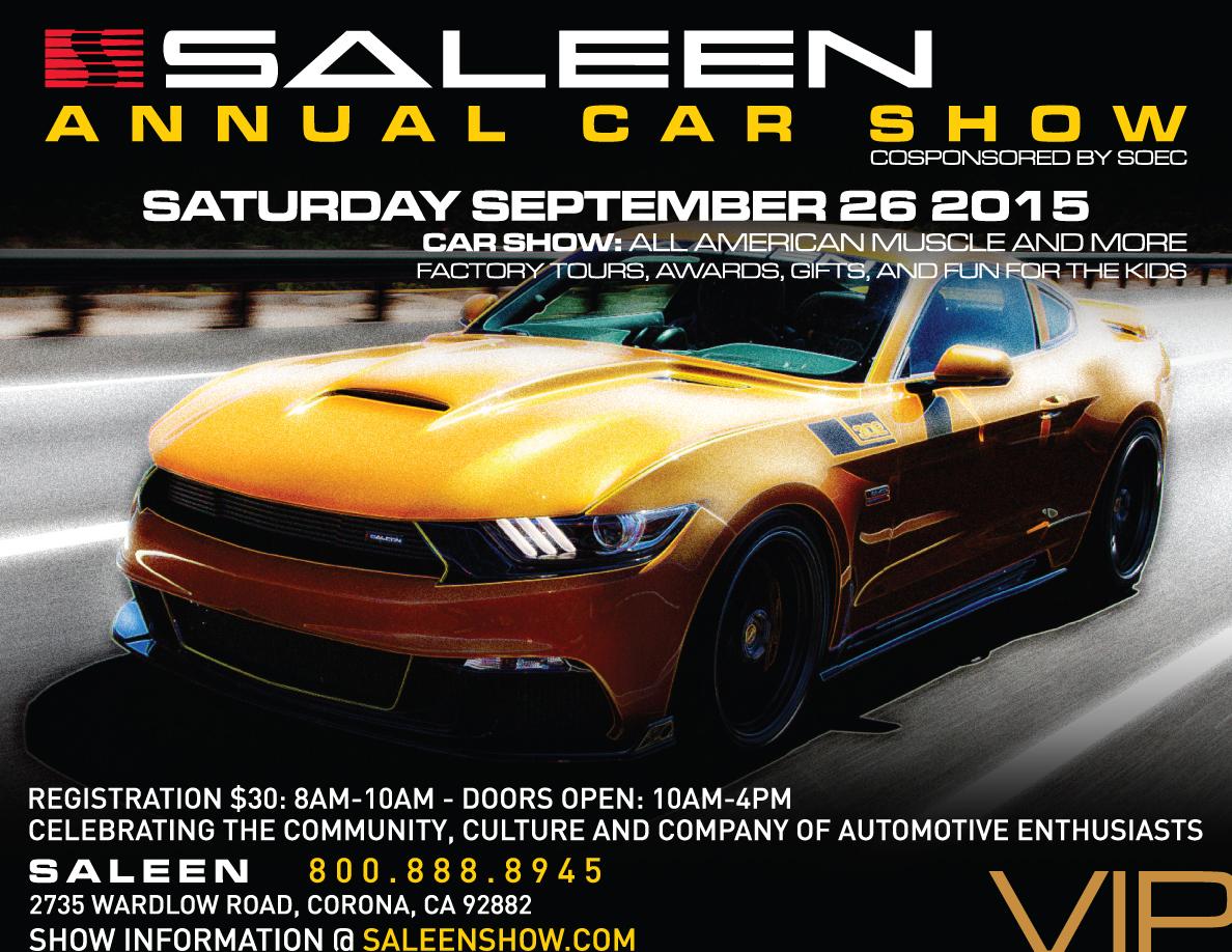 Saleen Show Flyer