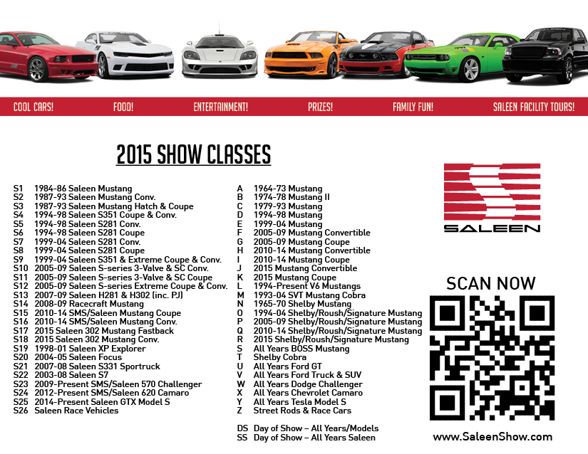 Saleen Show Classes