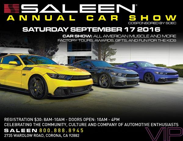 2016 Saleen Show Flyer