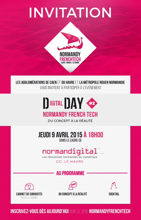 Invitation Digital Day#2 Normandy French tech