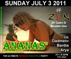 ANANAS II, The Ultimate Persian Pineapple Party @ Zen