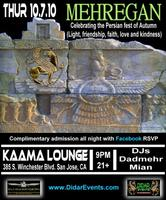 Mehregan Party Tonight at Kaama San Jose