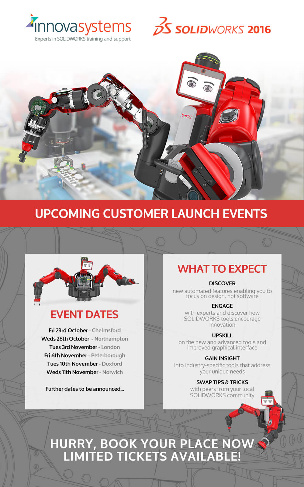 Innova Systems SOLIDWORKS 2016 Customer Days
