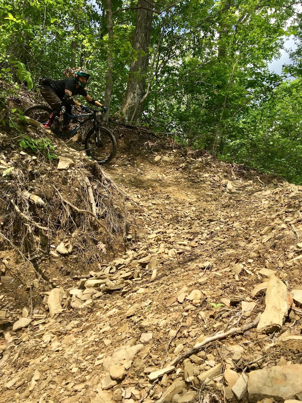 WindRock Bike Park steep, loose corner