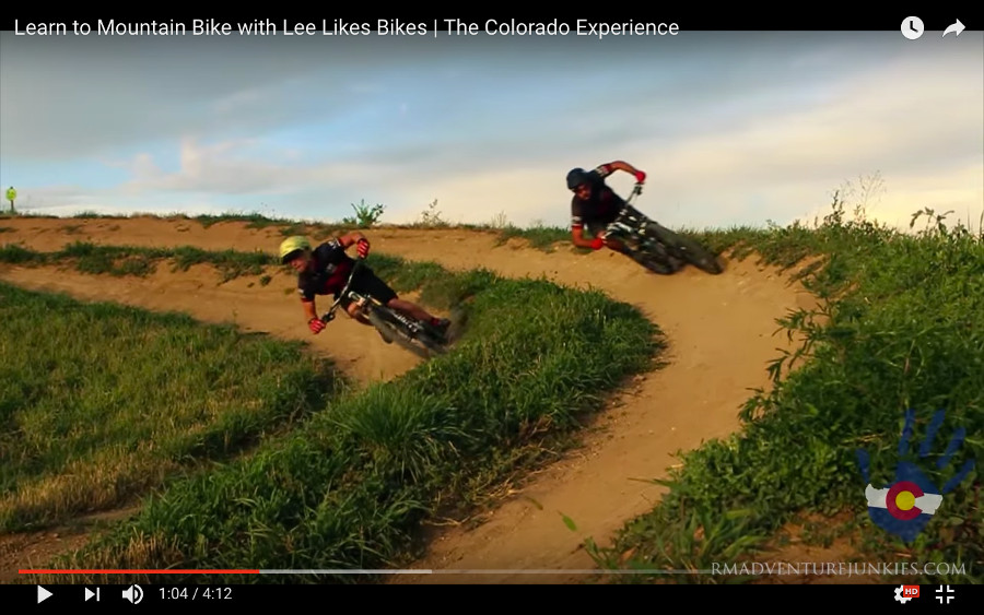 Kevin races Lee in Dual Slalom at Valmont Bike Park