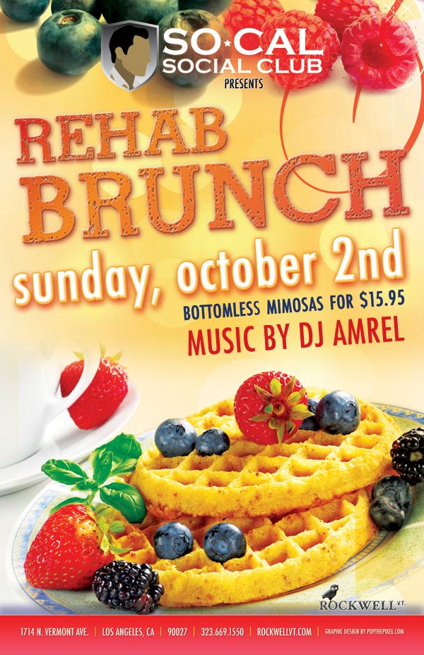 rehab brunch flyer