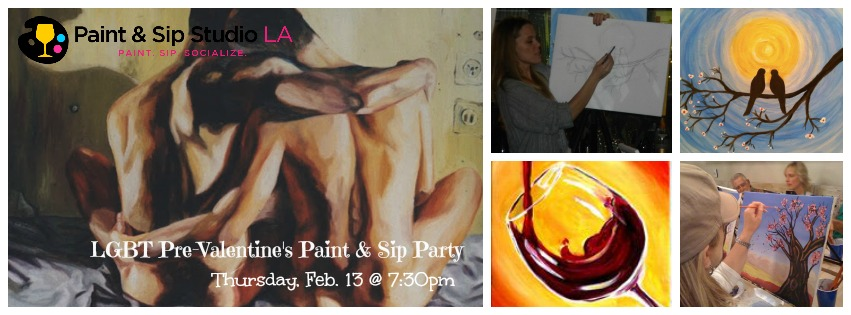 lgbt pre-valentine paint and sip party