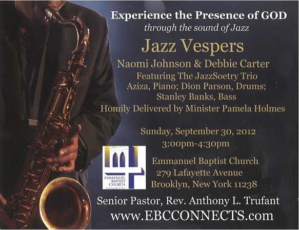 Jazz Vespers- 9/30/12