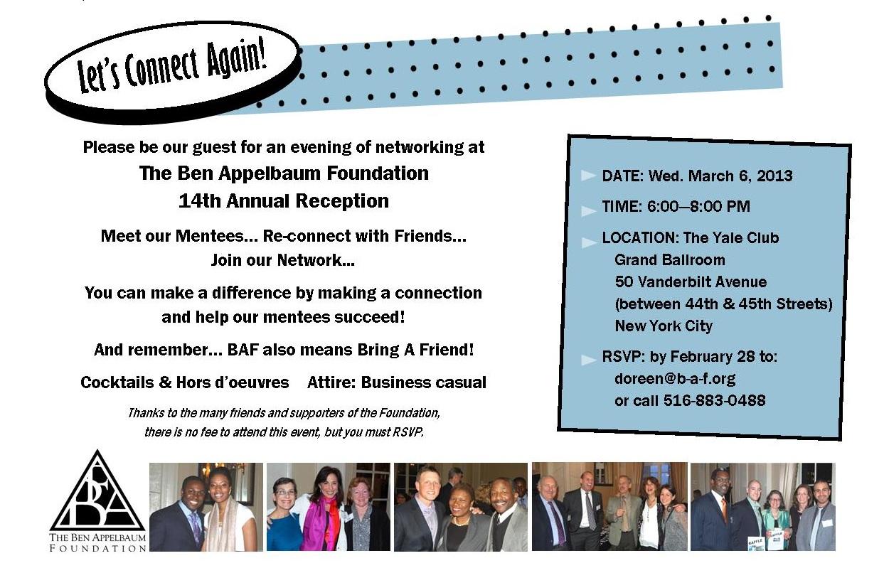 BAF 14th Annual Reception - March 6, 2013