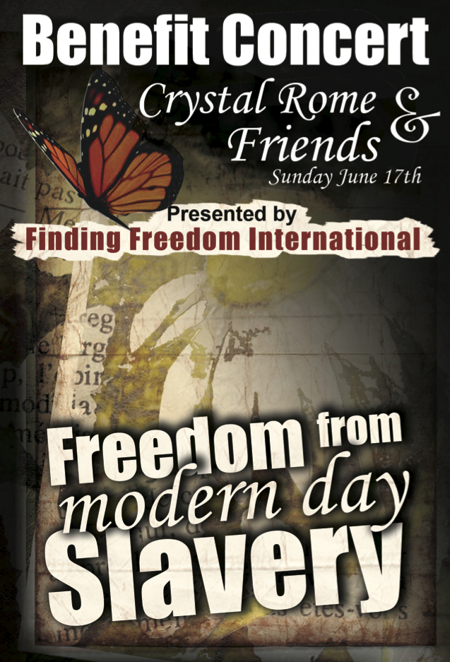Benefit Concert Flyer for Finding Freedom Internationnal