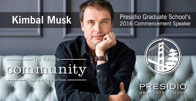 Kimbal Musk: 2016 Commencement Speaker