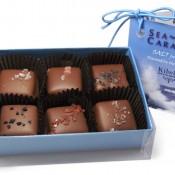 Kilwins 6pc sea-salt caramels included