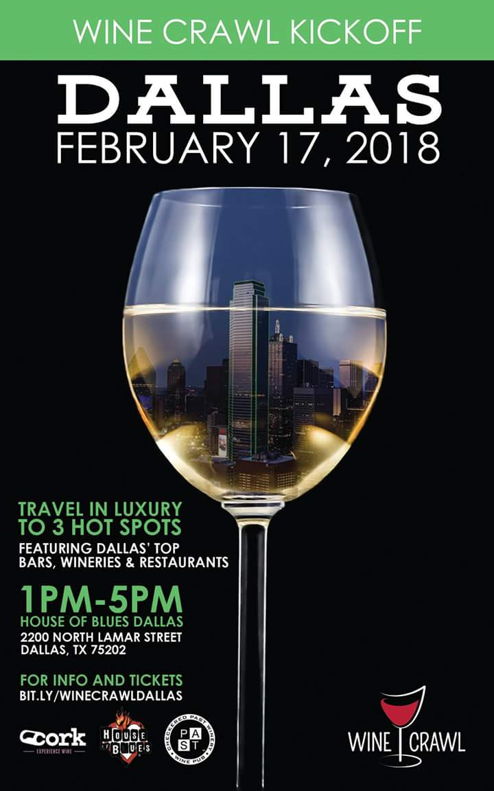Dallas Wine Crawl  Feb 17 2018 Poster