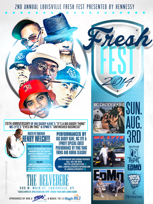 Louisville Fresh Fest 2014 Flier