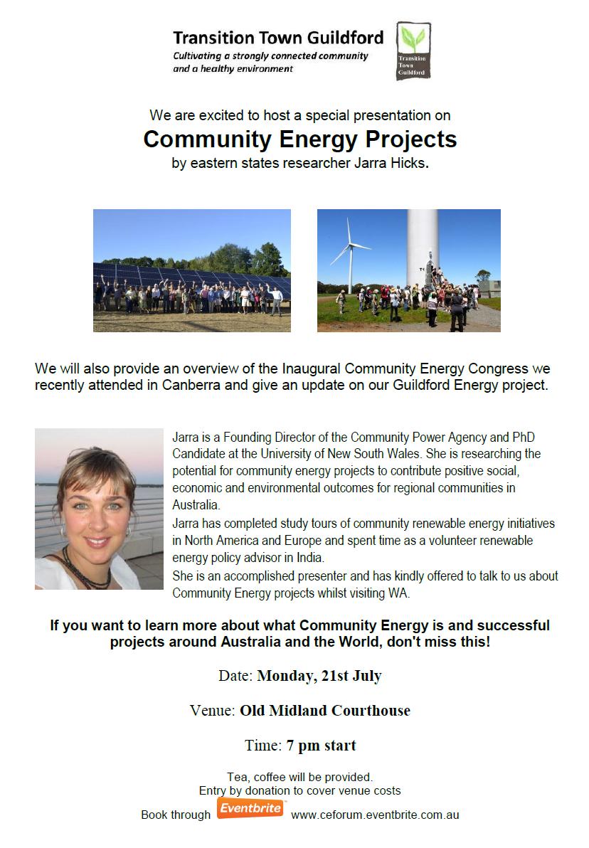 Community Energy Flyer