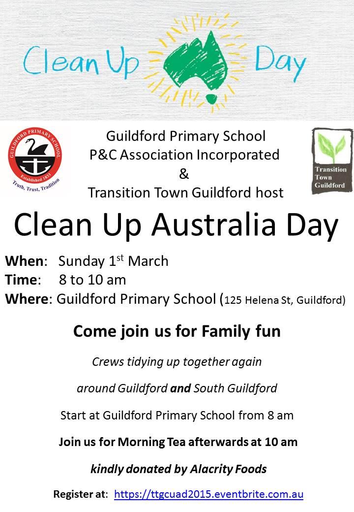 TTG Clean up Australia Day poster 2015
