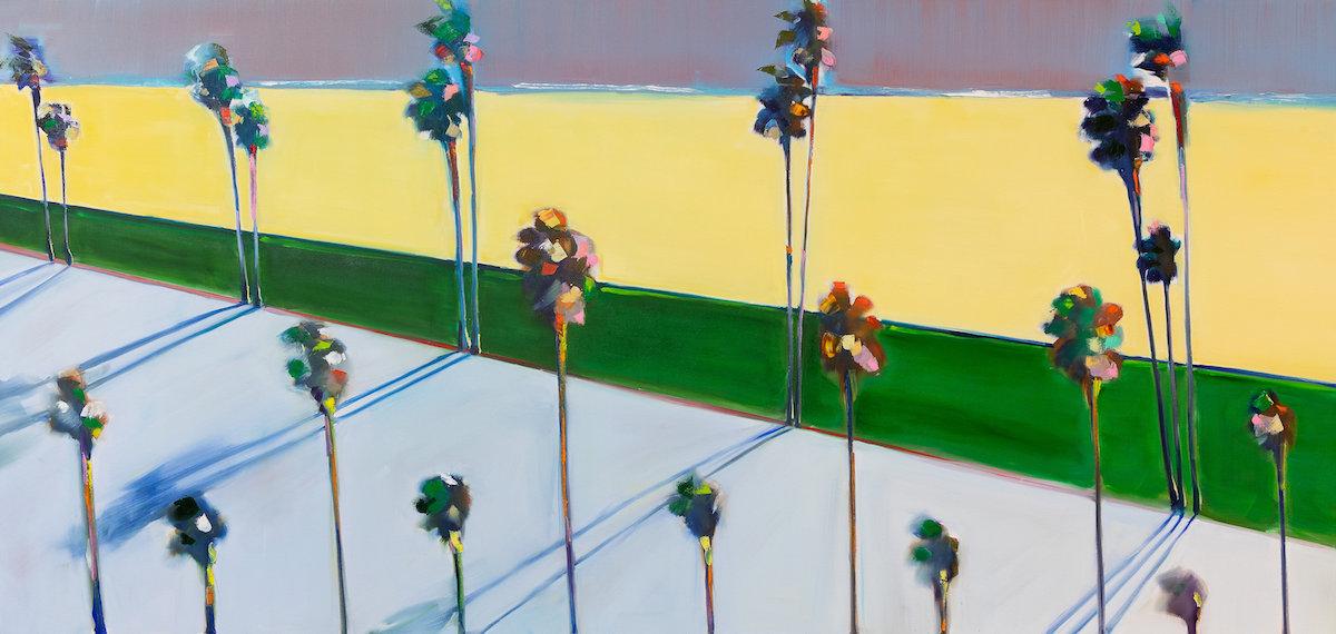 Matt Rogers, Festival Palms, Oil on Canvas, 72 x 96 inches 2018