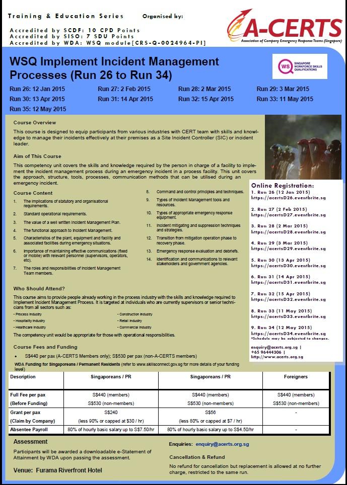 Implement Incident Management Processes Jan to Jun 2015