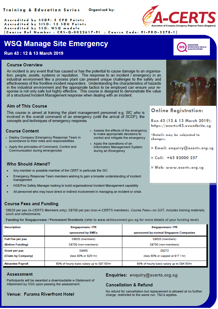 WSQ Manage Site Emergency_March2019