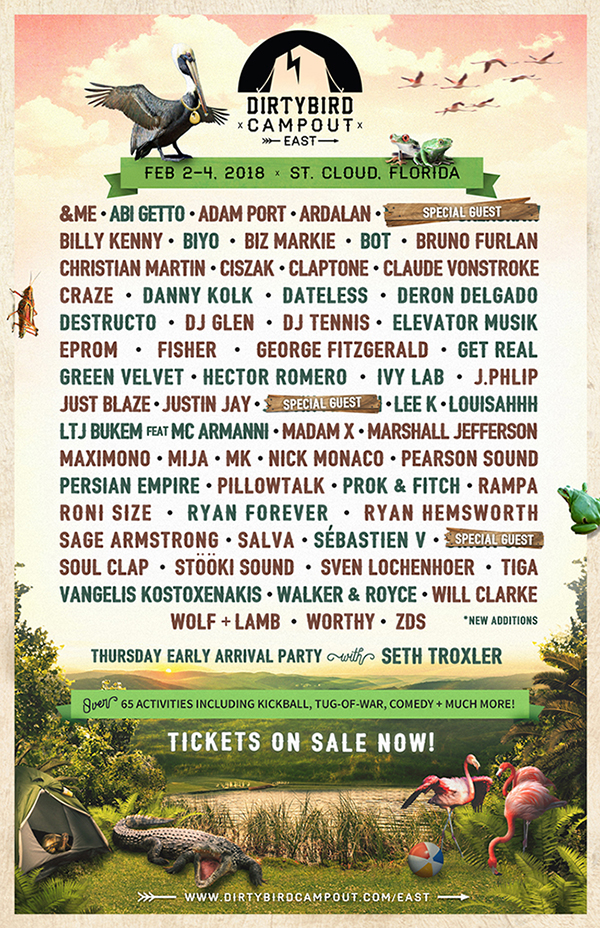Dirtybird Campout East - Phase 2 Lineup