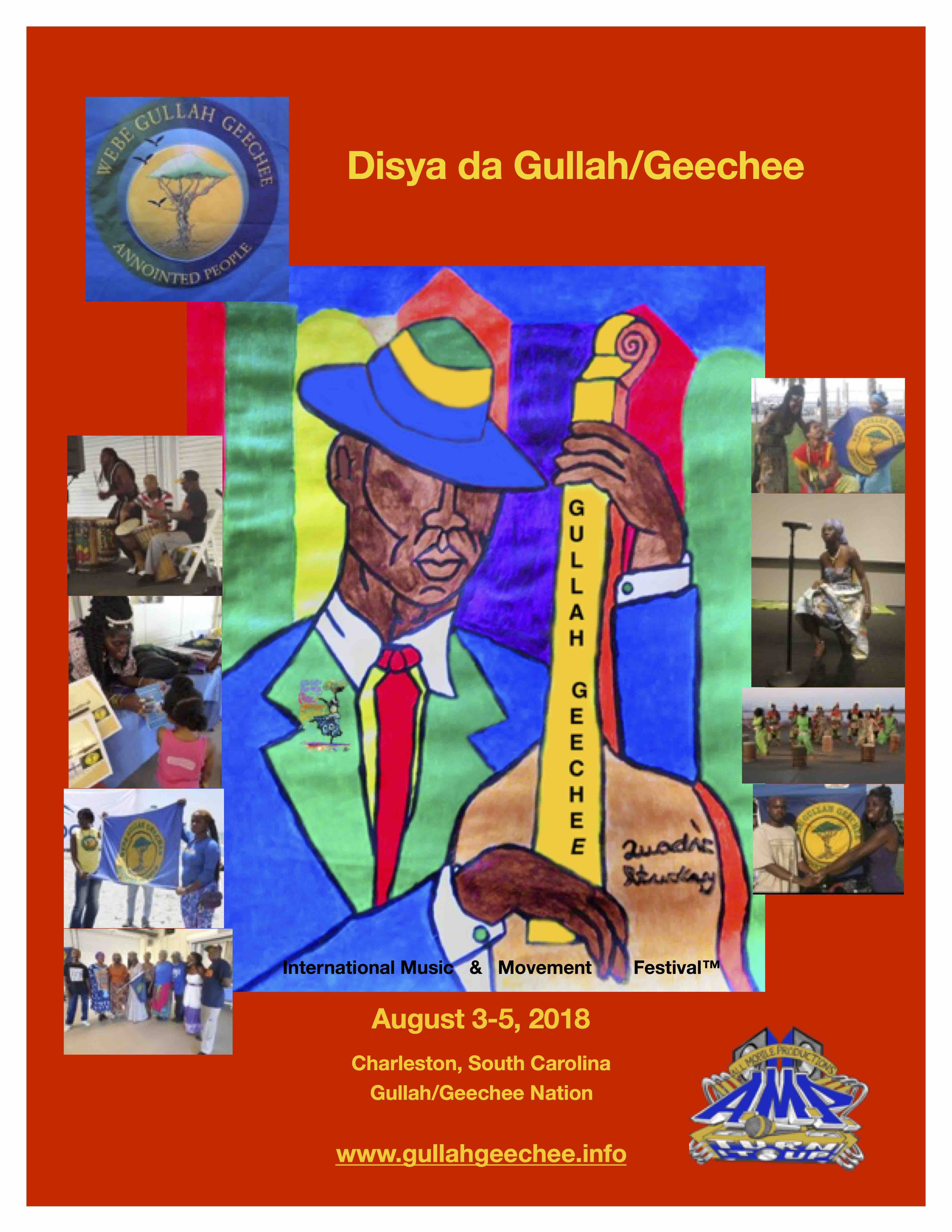Gullah/Geechee Nation International Music & Movement Festival 2018 Flyer