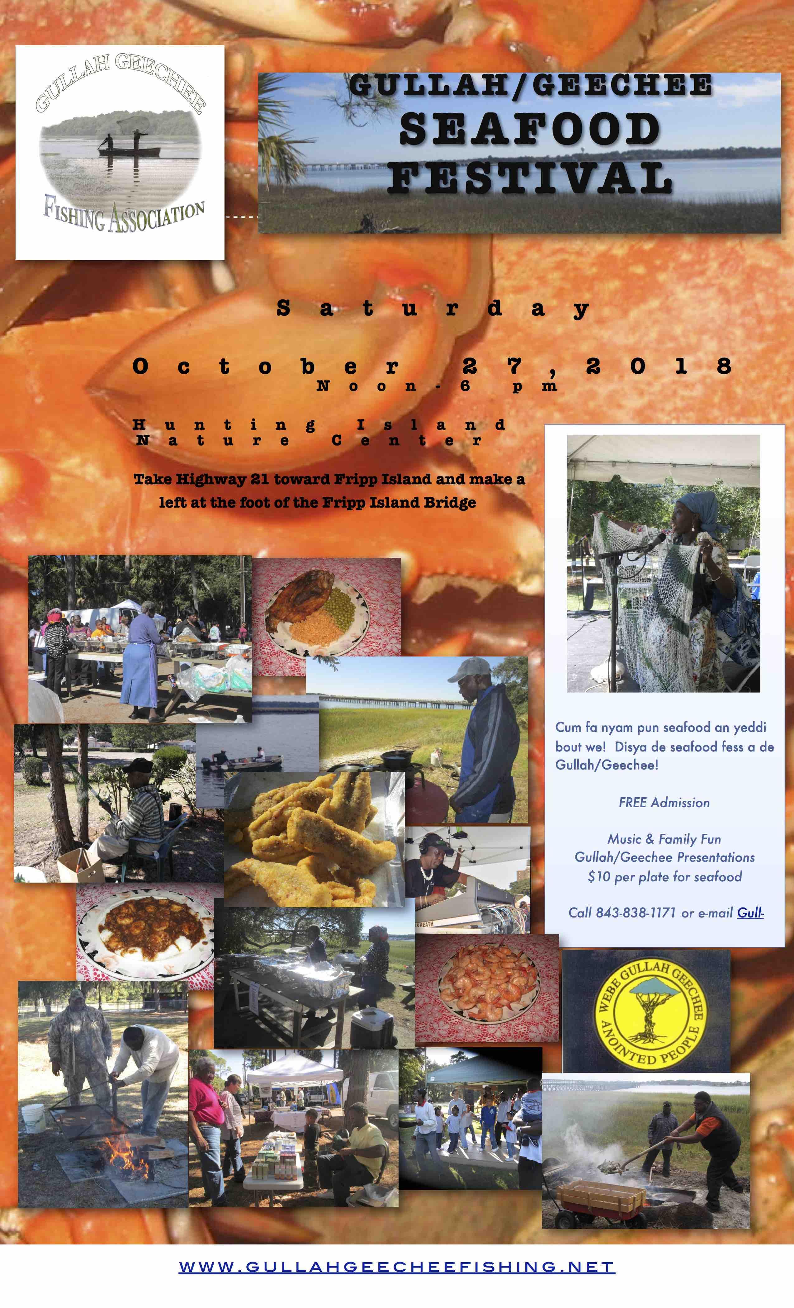 Gullah/Geechee Seafood Festival 2018 Flyer