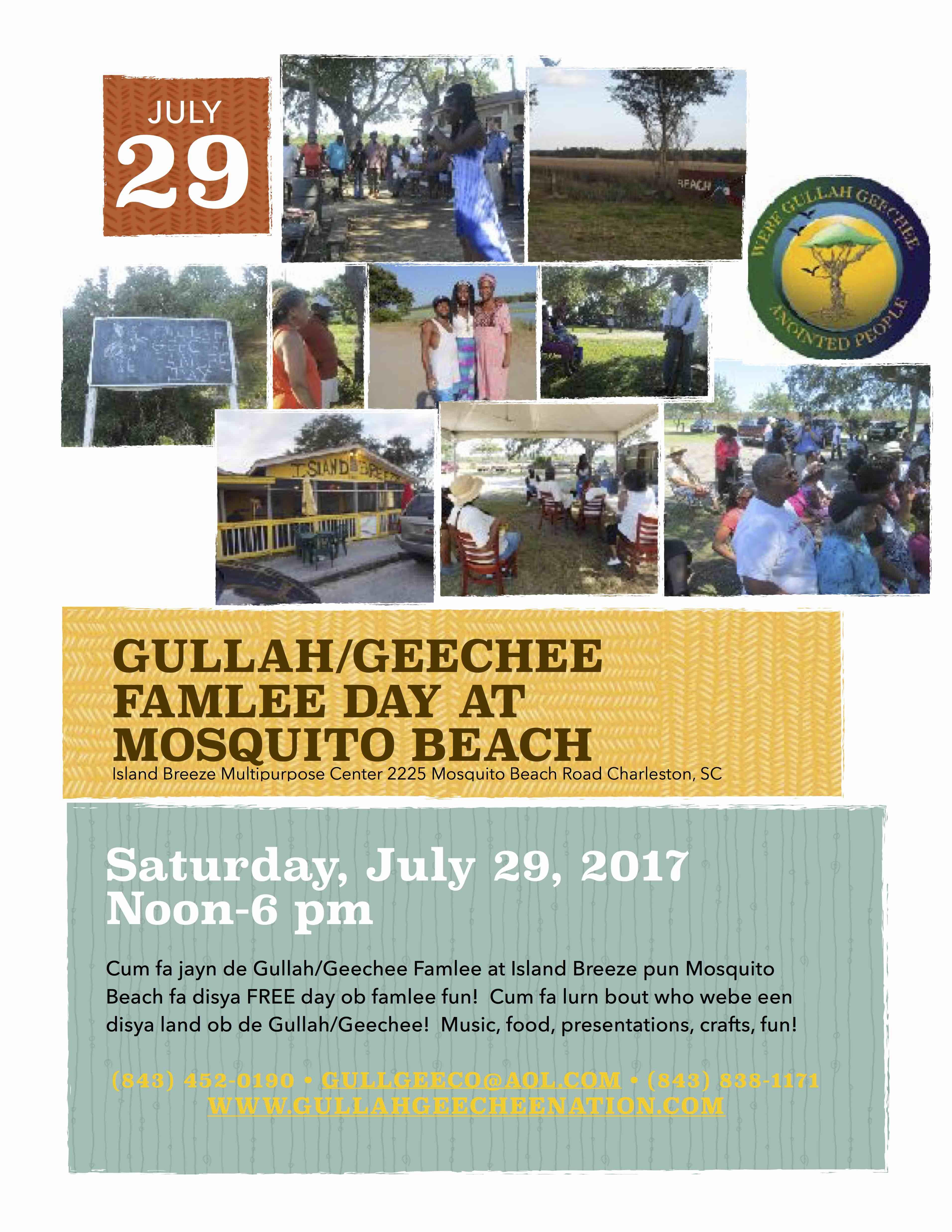 Gullah/Geechee Famlee Day at Mosquito Beach 2017