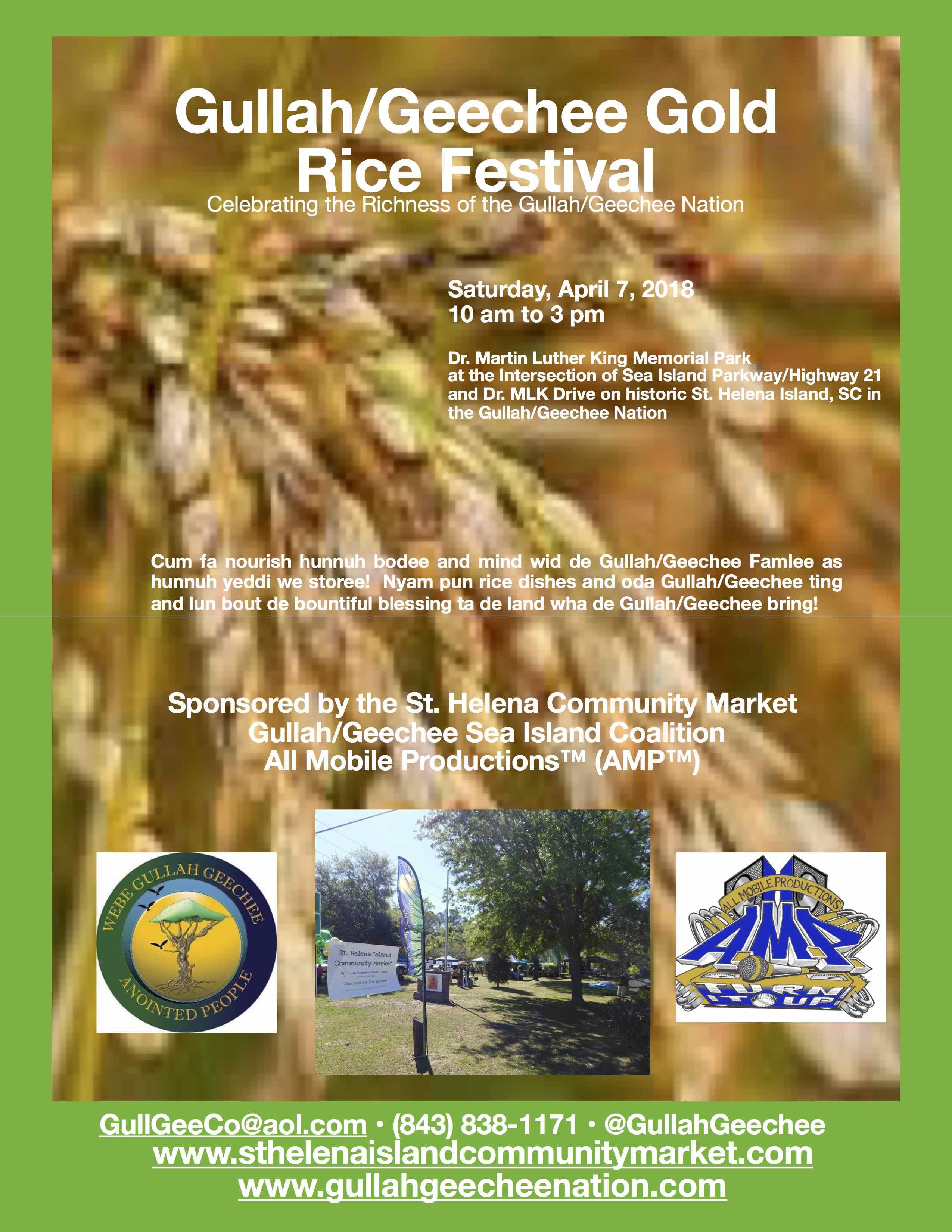 Gullah/Geechee Gold Rice Festival