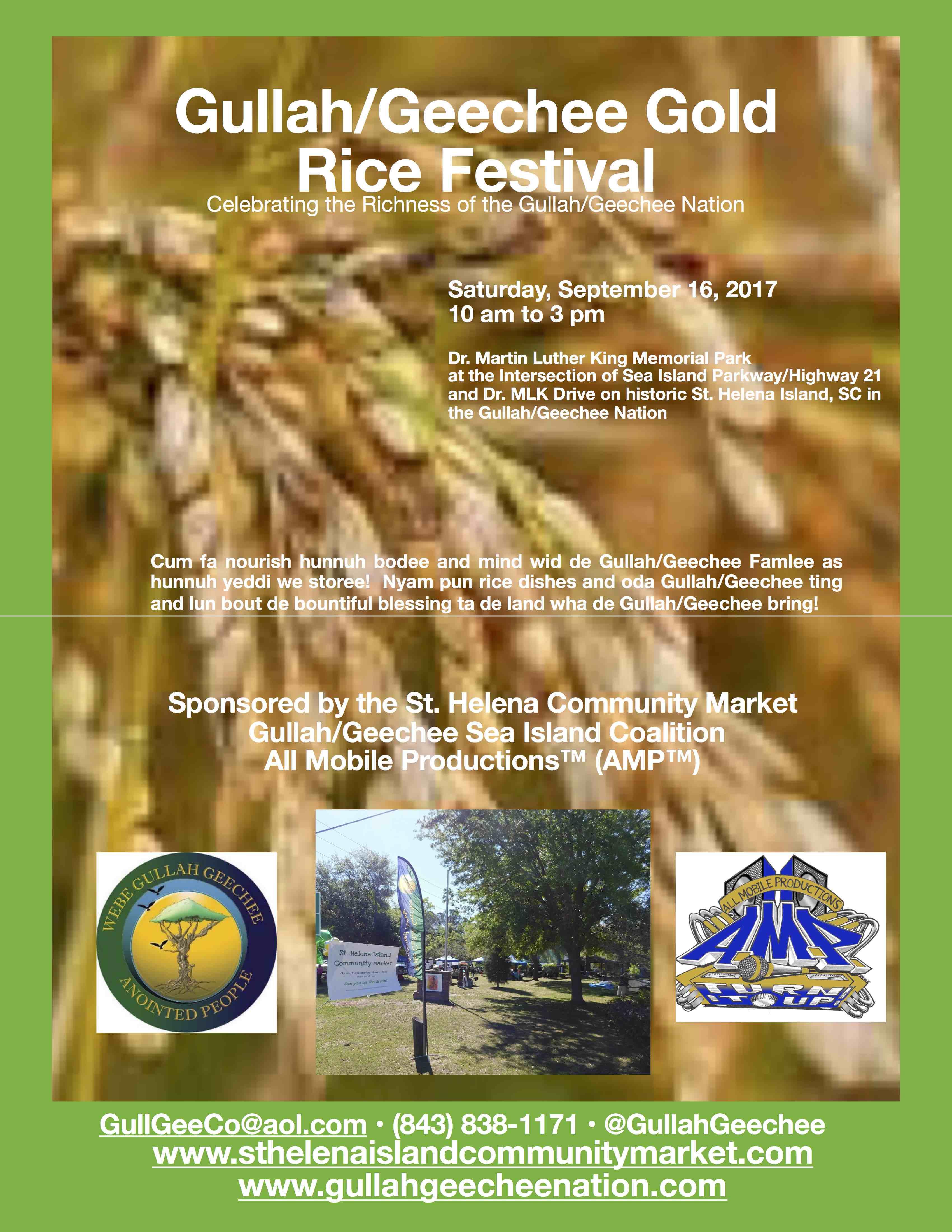 Gullah/Geechee Gold Rice Festival 2017
