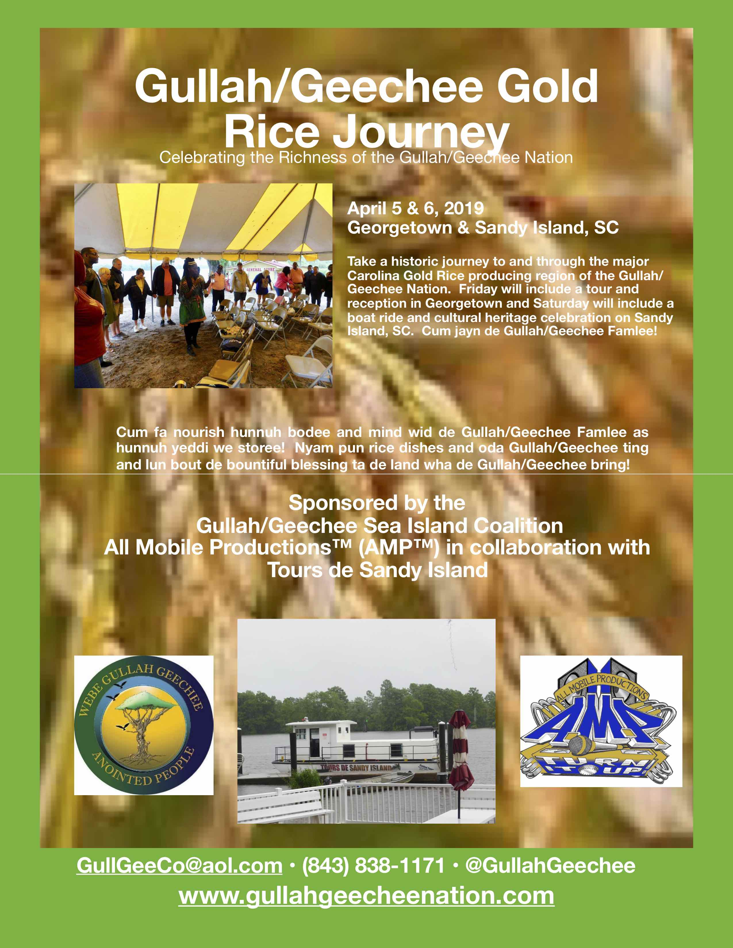 Gullah/Geechee Gold Rice Journey Flyer