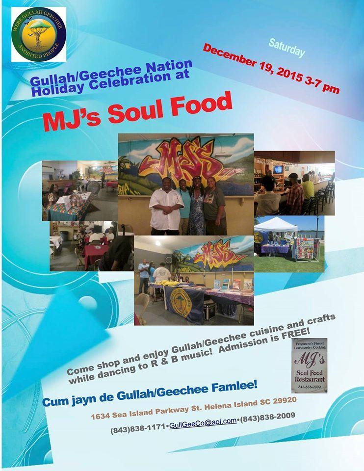 Gullah/Geechee Nation Holiday Celebration at MJs