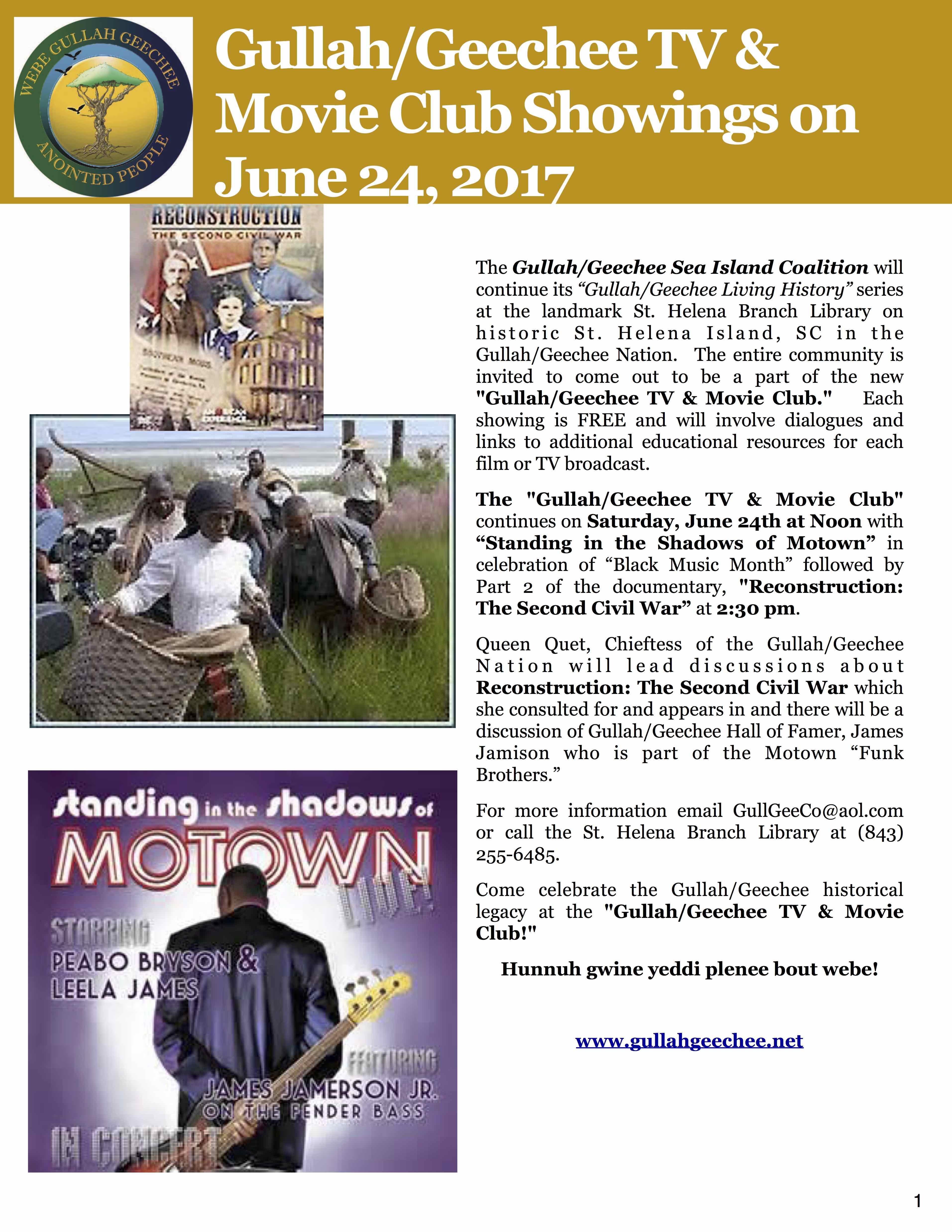 Gullah/Geechee TV & Movie Club: Standing in the Shadows of Motown