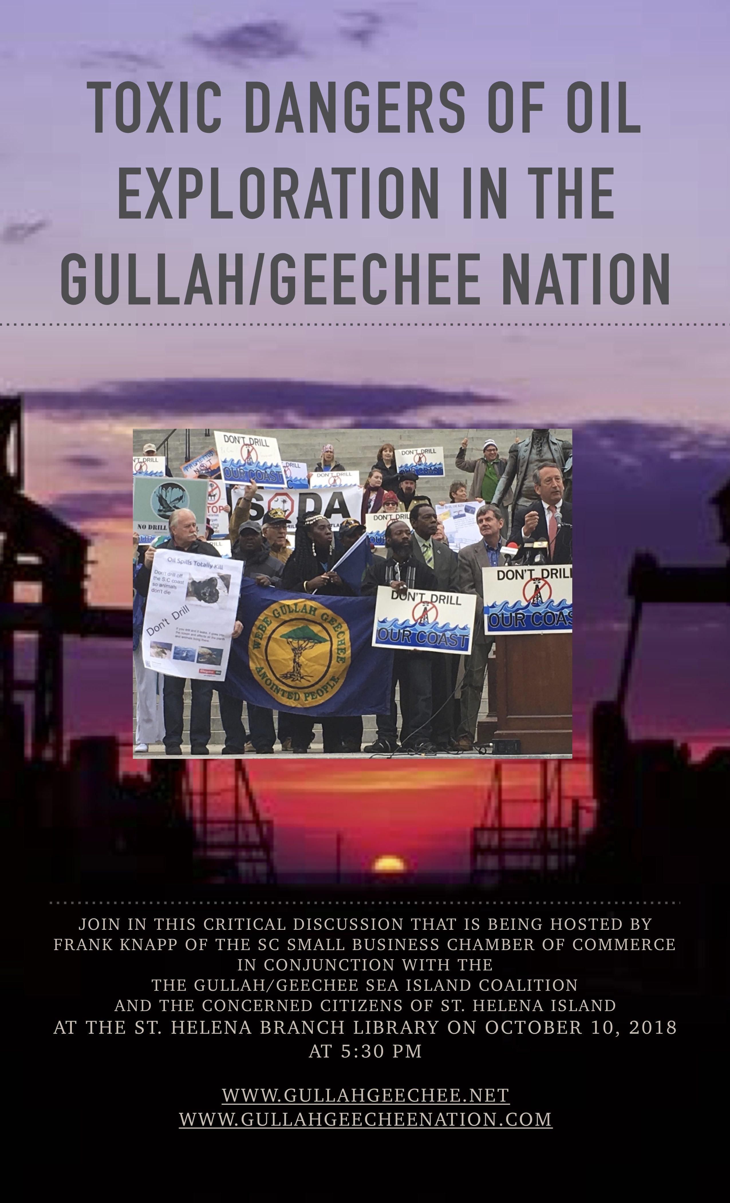 Toxic Chemicals and Oil Exploration in the Gullah/Geechee Nation Flyer