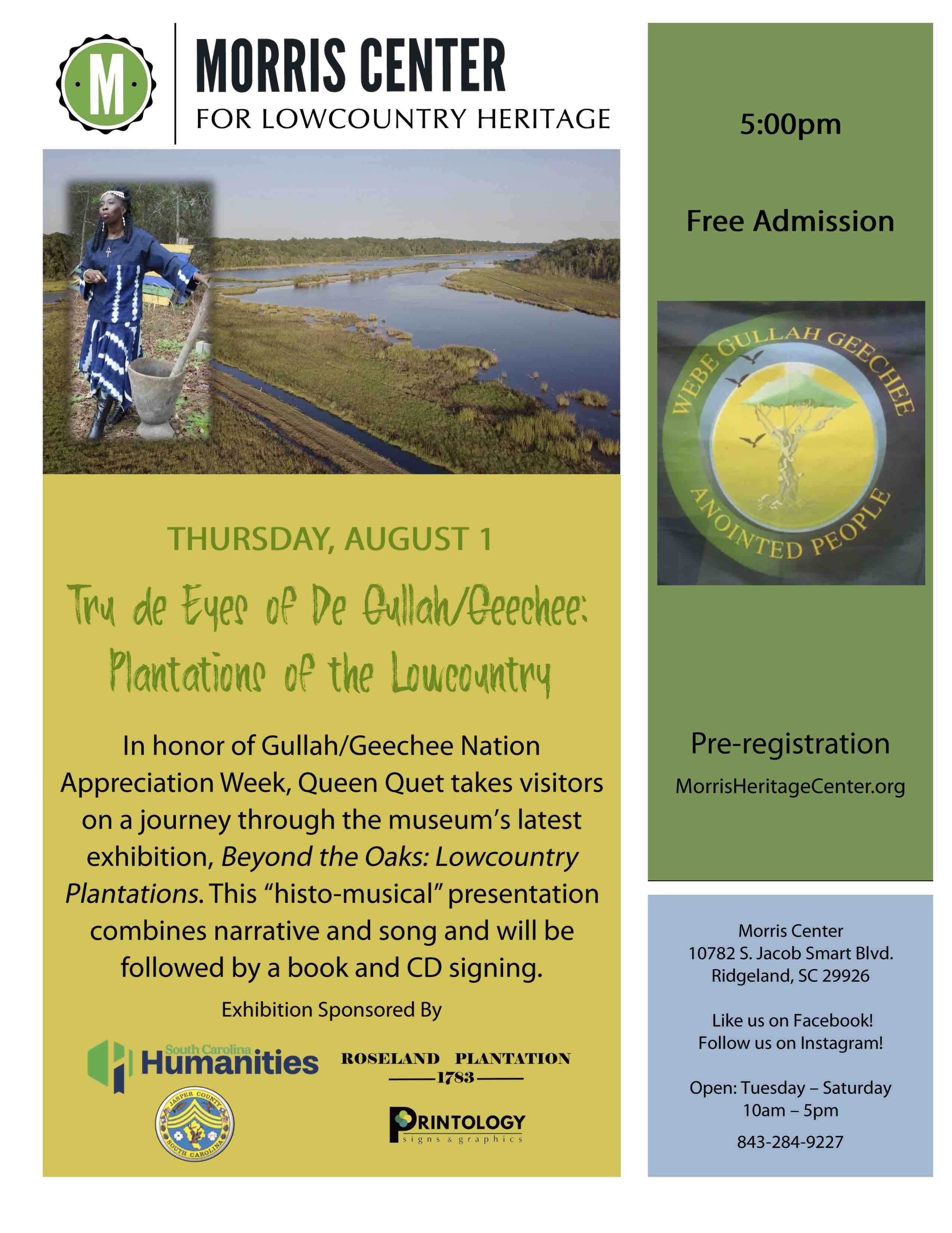 Tru de Eyes of the Gullah/Geechee: Plantations of the Lowcountry